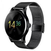 K88H Smart Watch - Compatível com Androis e Ios. Aço Inox - Preto - Modelo mtk2502