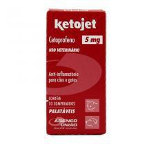 Ketojet 5mg Anti-inflamatório Cães e Gatos 10 comprimidos - Agener União - Agener União