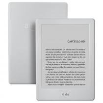 """Kindle Branco com Wi-Fi, 4GB, Tela 6"""" e Bateria de Longa Duração (8ª Geração) -"""