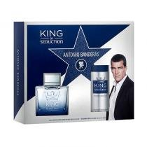 King of Seduction Antonio Banderas - Masculino - Eau de Toilette - Perfume + Desodorante Body Spray - Antonio Banderas