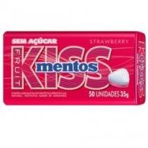 Kiss Mentos Morango C/ 50 Unidades -