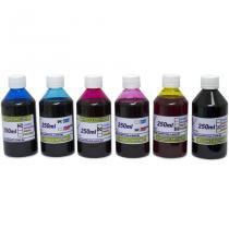 Kit 1,5l de tinta corante para epson e brother (250ml de cada cor) - Visutec