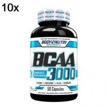 Kit 10X BCAA 3000 - 50 Cápsulas - Body Nutry -