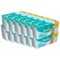 Kit 12 Lenço Umedecido Pampers Fresh Clean 1152 Folhas - Johnsons