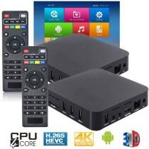 Kit 2 Aparelhos Conversor Smart Box Tv 8Gb Android 7.1 Exbom OTT-A2 4K Ultra HD Hdmi Usb Wifi -