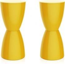 Kit 2 banquetas Bery color amarelo - Im In
