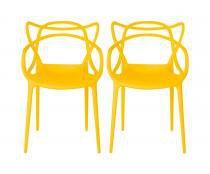 Kit 2 Cadeiras Cozinha Design Allegra Amarela - MY SHOP BRASIL