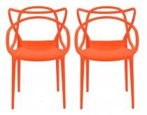 Kit 2 Cadeiras Cozinha Design Allegra Laranja - MY SHOP BRASIL