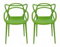 Kit 2 Cadeiras Cozinha Design Allegra Verde - MY SHOP BRASIL