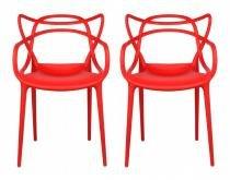 Kit 2 Cadeiras Cozinha Design Allegra Vermelha - MY SHOP BRASIL