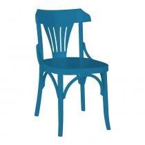 Kit 2 Cadeiras Montadas Opzione Azul Laqueado Fosco Madeira Maciça - Máxima