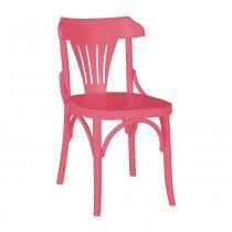 Kit 2 Cadeiras Montadas Opzione Rosa Laqueado Fosco Madeira Maciça - Máxima