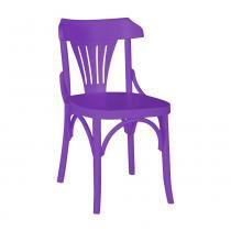 Kit 2 Cadeiras Montadas Opzione Roxo Laqueado Fosco Madeira Maciça - Máxima