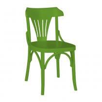 Kit 2 Cadeiras Montadas Opzione Verde Claro Laqueado Fosco Madeira Maciça - Máxima