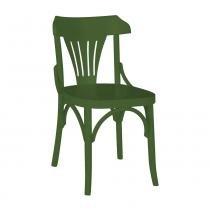 Kit 2 Cadeiras Montadas Opzione Verde Escuro Laqueado Fosco Madeira Maciça - Máxima