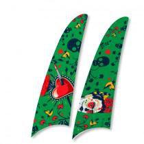 Kit 2 pás spirit frida kahlo caveira e coração verde fk01 - Spirit