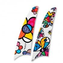 Kit 2 pás spirit romero britto flower power e butterfly rb04 -