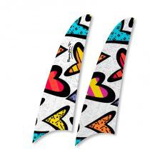 Kit 2 pás spirit romero britto hearts rb03 -