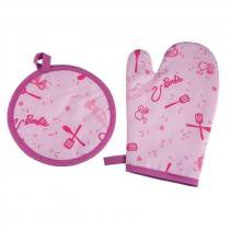Kit 2 Pecas Barbie Chef 1 Luva + 1 Pega Panela  Lepper -
