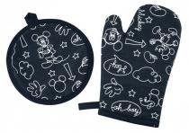 Kit 2 Pecas Mickey e Minnie 1 Luva + 1 Pega Panela  Lepper -