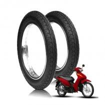 kit 2 pneu honda biz 150 mandrake 80/100-14 tras robust + 60/100-17 diant novo original -