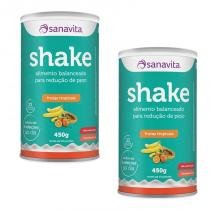 Kit 2 Shake - Sanavita - Frutas Tropicais - 450g -