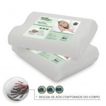 Kit 2 Travesseiros Anatômico Nasa Antialérgico - Master comfort