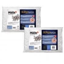 Kit 2 Travesseiros Viscoelástico Fibrasca Íons de Prata Antiácaro SuperNasa 4016 -