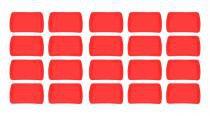 Kit 20 bandejas plástico retangular vermelho 34x23cm s 200 supercron - Supercron