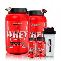 ff7610cd0 Kit 2x Nutri Whey 907g + Therma Pro + Bcaa + Coq + Porta Caps -