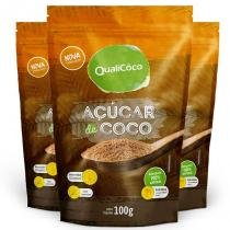 Kit 3 açúcar de coco natural qualicôco 100g -