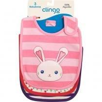 Kit 3 Babadores Feminino - Clingo -