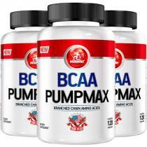 Kit 3 bcaa pumpmax midway 120 cápsulas -