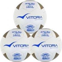8cd43068d4eaf Kit 3 Bolas Futsal Vitoria Brx Max 450 Sub 15 (13 A 15 Anos)