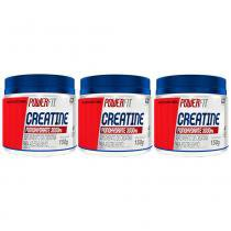 Kit 3 Creatine Monohydrat 3000Mg - 150G - Powerfit - Nutrilatina - Nutrilatina