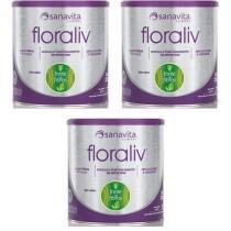 Kit 3 Floraliv - Sanavita - Fibras - 225g -