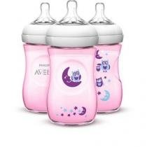 Kit 3 Mamadeiras 260ML Petala Coruja (1M+) Philips AVENT SCF644/32 -