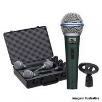 Kit 3 Microfones Dinâmico PRO com Maleta e Cachimbo BT-58A - MXT - MXT