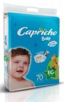 Kit 3 Pac. Fralda Infantil Capricho Baby Super Jumbo - EG - 210 Unidades -
