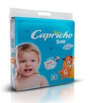 Kit 3 Pac. - Fralda Infantil Capricho Baby Super Jumbo - G - 240 Unidades -