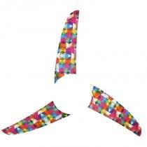 Kit 3 pás spirit geométrico pirâmides coloridas l50 - Spirit
