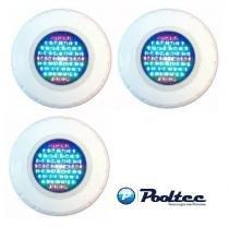 Kit 3 Refletor Para Piscina Led 65 ABS RGB Colorido - Até 27 m² - Pooltec