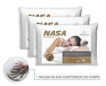 Kit 3 Travesseiros Antialergico Nasa 14 cm  Admirare -