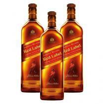 Kit 3 Whisky Johnnie Walker Red Label 1 Litro cada -