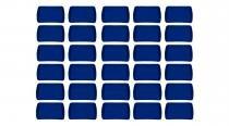 Kit 30 bandejas plástico retangular azul royal 34x23cm s 200 supercron - Supercron