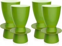 Kit 4 banquetas Tinn color verde - Im In