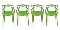 Kit 4 Cadeiras Cozinha Design Allegra Verde - MY SHOP BRASIL