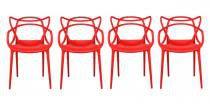 Kit 4 Cadeiras Cozinha Design Allegra Vermelha - MY SHOP BRASIL
