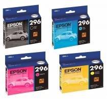 Kit 4 Cartuchos 296 T296 Epson Para  Xp 231 Xp 431 XP231 XP431 TO296 T0296 Originais -