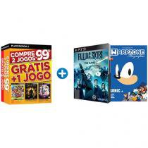 Kit 4 Jogos para PS3 + Livro Biografias - Sonic